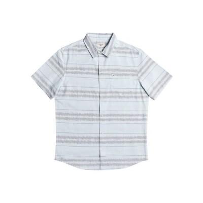 クイックシルバー シャツ トップス メンズ Men's Prime Time Short Sleeve Shirt Dream Blue