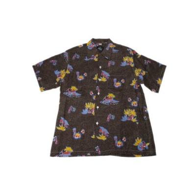 KONA BAY HAWAII コナベイハワイ S/S アロハシャツ 「ドット」ブラウン あすつく