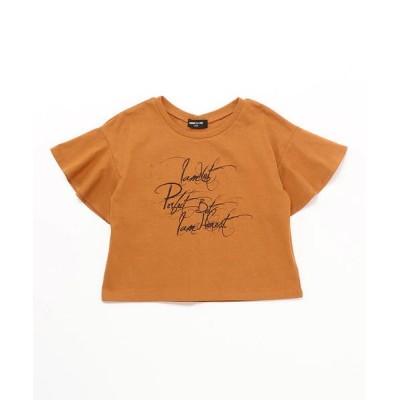 COMME CA ISM/コムサイズム フレアースリーブ Tシャツ オレンジ 130cm