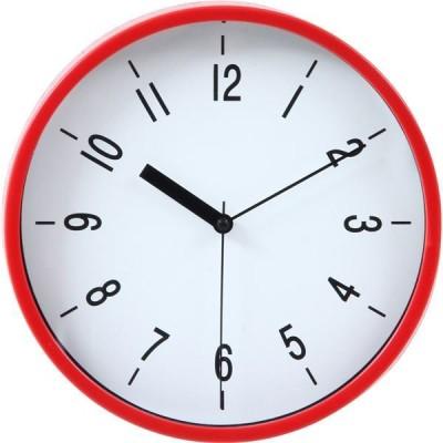 掛時計 ハリー Φ22cm レッド (RD)(99041)〔3個セット〕〔代引不可〕