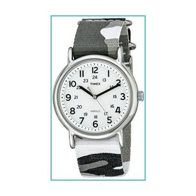 Timex Unisex T2P366 Weekender Gray Camo Slip-Thru Nylon Strap Watch【並行輸入品】