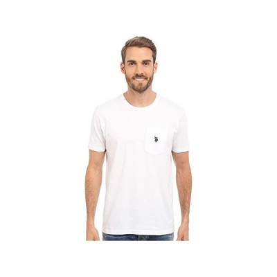 U.S. POLO ASSN. Solid Crew Neck Pocket T-Shirt メンズ シャツ トップス White