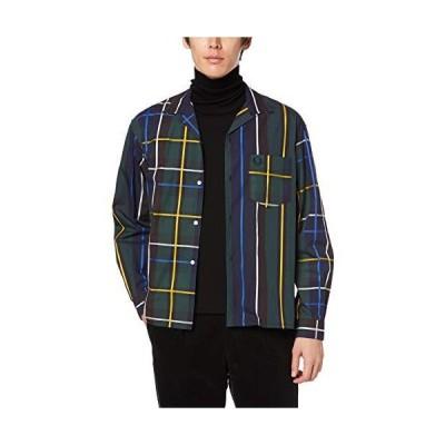[フレッドペリー] 長袖シャツ Stripe Bowling Shirt F4527 メンズ 01_NAVY UK S (日本サイズM相当)