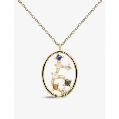 ピーディーパオラ PD PAOLA レディース ネックレス ジュエリー・アクセサリー Zodiac Virgo 18Ct Gold-Plated Sterling Silver And Gemstone Necklace GOLD