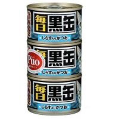 アイシア 黒缶 毎日 しらす入りかつお 160g×3缶 キャットフード 黒缶 お一人様23点限り