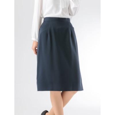 サテンジョーゼットタイトスカート