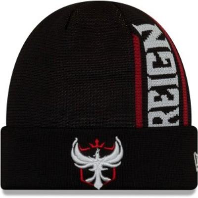 ニューエラ メンズ 帽子 アクセサリー Atlanta Reign New Era Cuffed Knit Hat Black