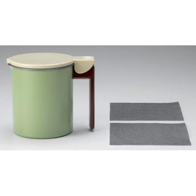 高木金属工業 活性炭油ろ過ポットWミニ 0.55L グリーン  KWPM-0.55 【返品種別A】