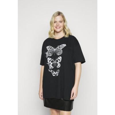 ミスガイデッド レディース ファッション BUTTERFLY GRAPHIC - Print T-shirt - black