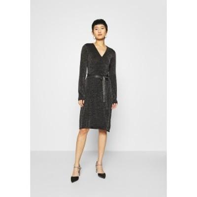 サントロペ レディース ワンピース トップス DUBBI DRESS - Jumper dress - black black