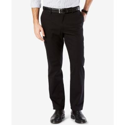 ドッカーズ メンズ カジュアルパンツ ボトムス Mens' Signature Lux Cotton Straight Fit Stretch Khaki Pants Black