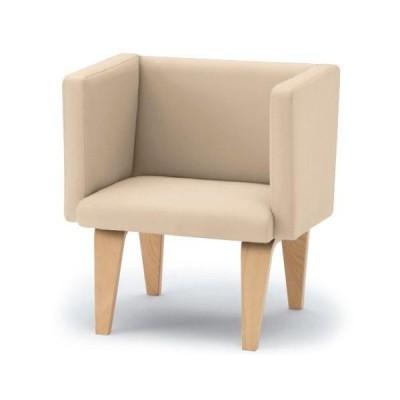 ロビー ラウンジ家具 イトーキ ウェイティング NH アームチェア 木製脚タイプ 自社便 開梱 設置付