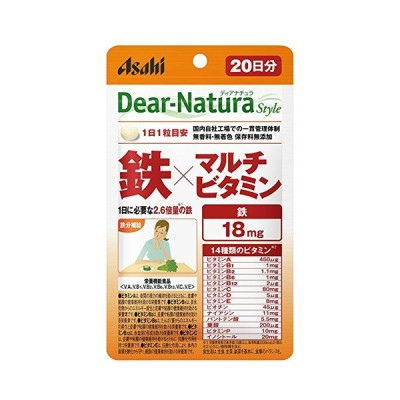 ディアナチュラスタイル 亜鉛×マルチビタミン 20日分 (20粒) ASAHI サプリメント ビタミン ミネラル 健康食品 粒タイプ 栄養機能食品