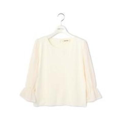 LAISSE PASSEフラワー袖刺繍プルオーバー【お取り寄せ商品】