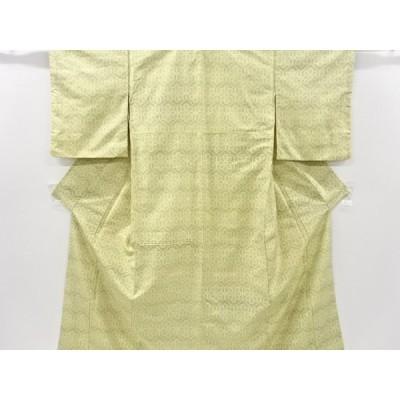 宗sou 花亀甲模様織り出し手織り紬着物【アンティーク】【着】