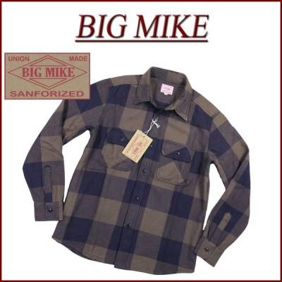 BIG MIKE ビッグマイク 復刻 長袖 バッファローチェック ヘビーネルシャツ 102035211