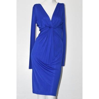 ワンピース ダイアンフォンファステンバーグ Diane von Furstenberg DVF Cosco Royal Blue Waterfall Front SLEAK Dress 4