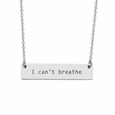 ネックレス JJTZX I Can't Breathe Black Lives Matter ペンダントネックレス&ブレスレット&キーチェーン 抗人種差別抗抗抗抗抗抗抗抗抗