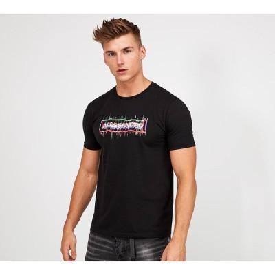 アレッサンドロ ザベッティ Alessandro Zavetti メンズ Tシャツ トップス sonova glitch t-shirt Black