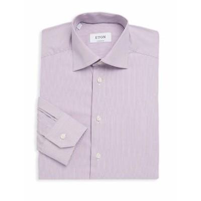 イートン Men Clothing Pinstripe Cotton Dress Shirt