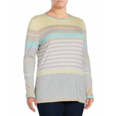 バスラー レディース トップス シャツ Striped Silk & Cashmere-Blend Pullover