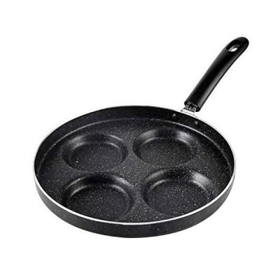 EC Kitchen 目玉焼き フライパン 4穴卵フライパン ガス対応 直径24cm 丸型 目玉焼き用 型付きフライパン 焦げ付き防