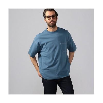 <TOMORROWLAND (Men)/トゥモローランド> コットンデラヴェ ビッグシルエット ポケットTシャツ 65ブルー【三越伊勢丹/公式】