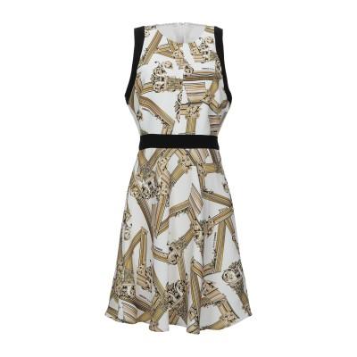 VERSACE ミニワンピース&ドレス ホワイト 42 ポリエステル 100% / ポリウレタン ミニワンピース&ドレス