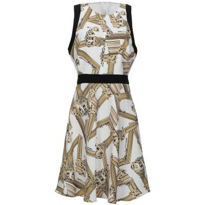 VERSACE JEANS ミニワンピース&ドレス ホワイト 38 ポリエステル 100% / ポリウレタン ミニワンピース&ドレス