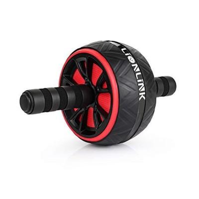 LIONLINK ABローラーホイールワークアウト器具 ABホイールエクササイズ器具 ホームジム用ABホイールローラー コアトレーニングと腹部ワークア