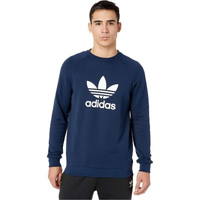 アディダス adidas Originals メンズ スウェット・トレーナー トップス Trefoil Crew Sweatshirt Collegiate Navy