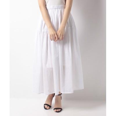 (Gready Brilliant/グレディブリリアン)ラミーローンギャザースカート/レディース ホワイト