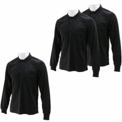 SK11 長袖ポロシャツ ブラック Lサイズ  L-BLK-3P(3枚入)[Tシャツ(アパレル(男性用))]