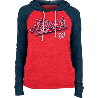 ニューエラ New Era レディース パーカー トップス Washington Nationals Red Tri-Blend Pullover Hoodie