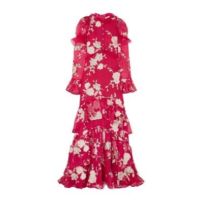 アーデム ERDEM ロングワンピース&ドレス レッド 8 シルク 100% ロングワンピース&ドレス