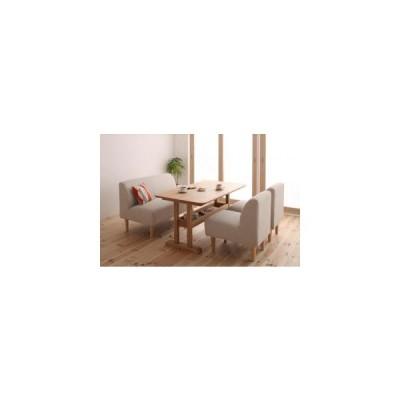 ダイニングテーブル ダイニングテーブルセット 4点 4人用 (C) アイボリー 食卓テーブル 四点 テーブル 椅子 肘 ベンチ 北欧