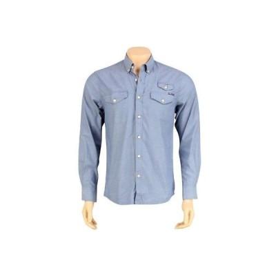 アクティブウェア トップス メンズ ハンドレッツ The Hundreds Butter Long Sleeve Shirt (blue) T11F208062BLU