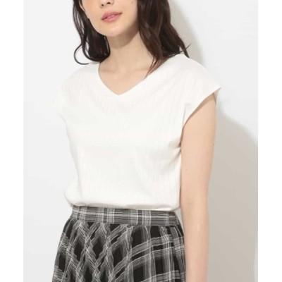 OFUON / 太リブノースリーブカットソー WOMEN トップス > Tシャツ/カットソー
