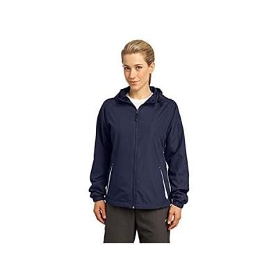 [新品]Sport-Tek 女性用 カラーブロック フード付き ラグラン袖 ジャケット US サイズ: M