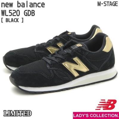 ニューバランス レディース レトロ ランニング シューズ ライフスタイル new balance WL520 GDB (幅:B) BLACK NB