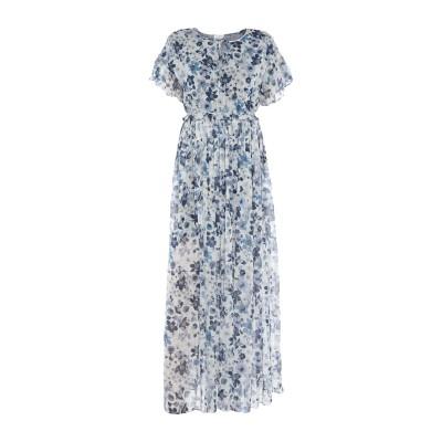 MY TWIN TWINSET ロングワンピース&ドレス ブルー S ポリエステル 99% / 金属 1% ロングワンピース&ドレス