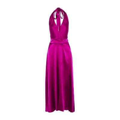 MAJE ロングワンピース&ドレス フューシャ 2 シルク 95% / ポリウレタン 5% ロングワンピース&ドレス