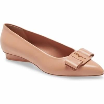 サルヴァトーレ フェラガモ SALVATORE FERRAGAMO レディース スリッポン・フラット バレエシューズ シューズ・靴 Viva Bow Ballet Flat N