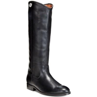 フライ ブーツ&レインブーツ シューズ レディース Women's Melissa Button 2 Wide-Calf Tall Leather Boots Black