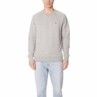メゾン キツネ Maison Kitsune メンズ スウェット・トレーナー トップス Long Sleeve Fox Head Patch Sweatshirt Grey Melange