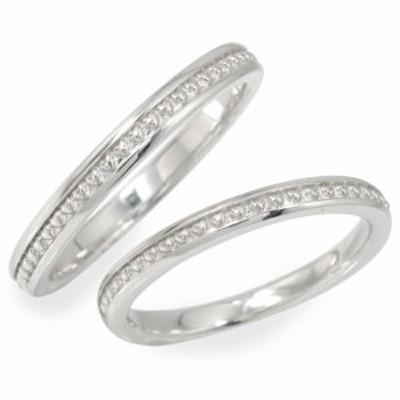 ペアリング 指輪 誕生石 2本セット ホワイトゴールド 結婚指輪 10金 レディース メンズ セット価格 ハート ミル ペアリング【送料無料】