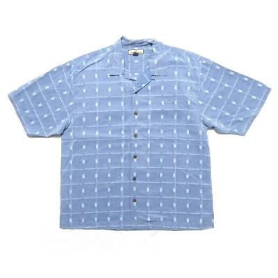 【25%off】古着 Tommy Bahama 総柄 開襟 ボックス シルクシャツ サイズ表記:XL