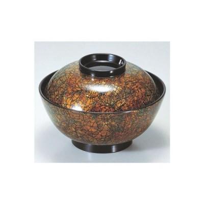 煮物椀 4.5寸煮物椀黒虹彩 漆器 高さ62 直径:133/業務用/新品