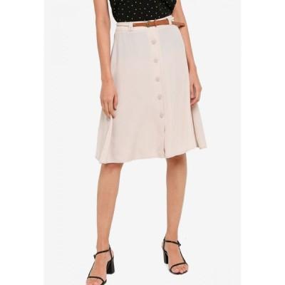 ザローラ ZALORA レディース ミニスカート スカート A-line Skirt with Hemp Rope Belt Stone