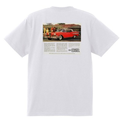 アドバタイジング フォード 852 白 Tシャツ 黒地へ変更可 1958 サンダーバード サンライナー ギャラクシー エドセル フェアレーン f100